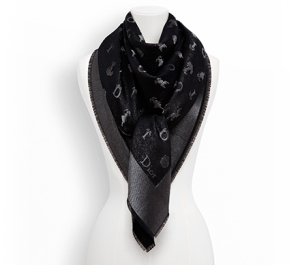 Parisian Fashion So Dior Black Lurex Scarf