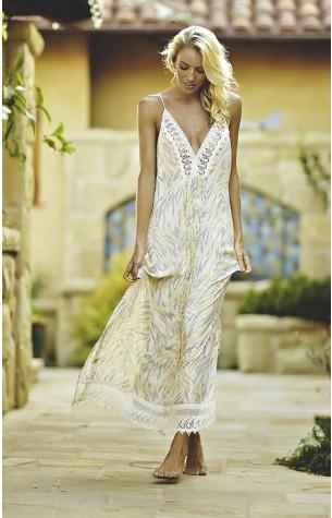 Magnolia Printed Maxi Dress Indah Clothing