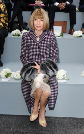 LONDON, UNITED KINGDOM - SEPTEMBER 16: Anna Wintour attends the Erdem show during London Fashion Week SS14 at on September 16, 2013 in London, England. (Photo by Stuart C. Wilson/Getty Images)