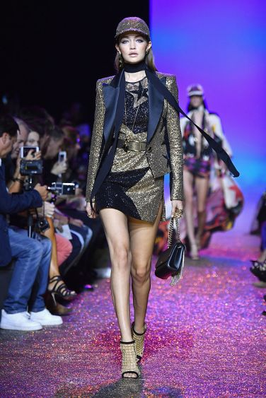 PARIS, FRANCE - OCTOBER 01: Gigi Hadid walks the runway during the Elie Saab show as part of the Paris Fashion Week Womenswear Spring/Summer 2017 on October 1, 2016 in Paris, France. (Photo by Pascal Le Segretain/Getty Images)