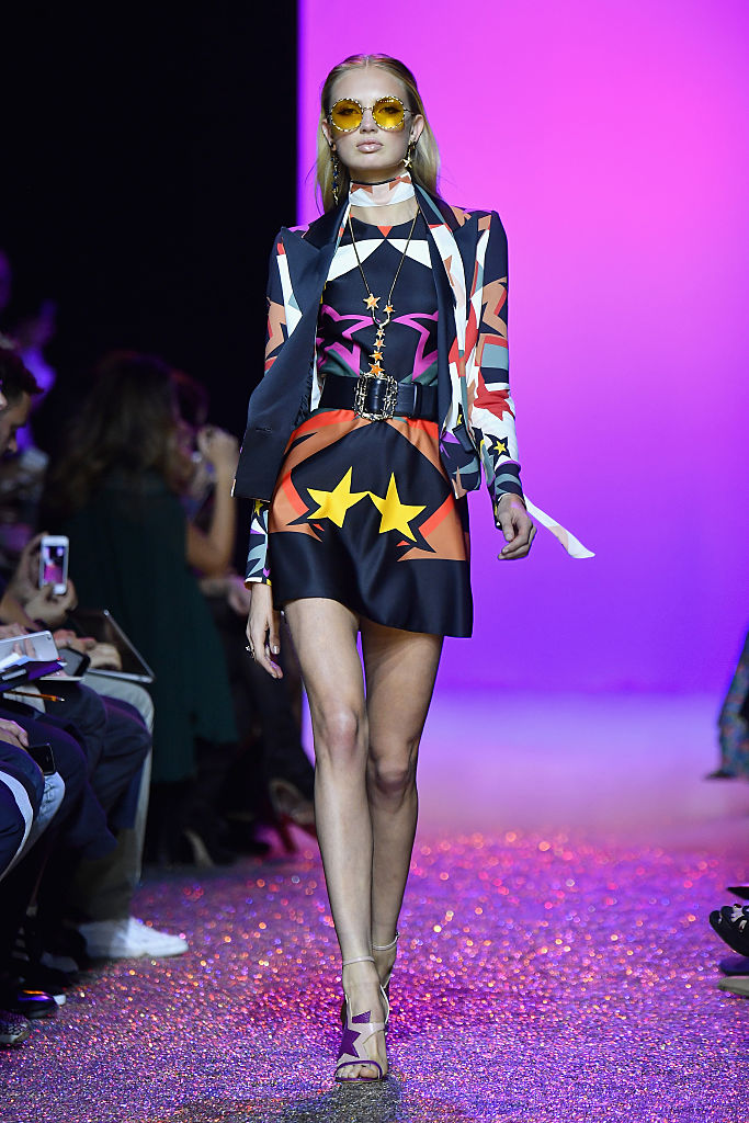 PARIS, FRANCE - OCTOBER 01: A model walks the runway during the Elie Saab show as part of the Paris Fashion Week Womenswear Spring/Summer 2017 on October 1, 2016 in Paris, France. (Photo by Pascal Le Segretain/Getty Images)