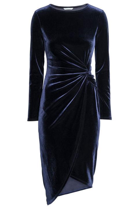 lvc-hm-draped-velvet-dress